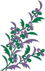 Purple Flowery Vine embroidery design