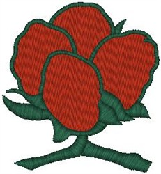Red Flower on Vine embroidery design