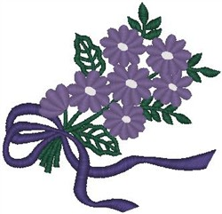 Bouquet of Purple Flowers embroidery design