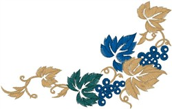 Leafy Floral Design embroidery design
