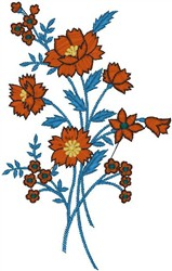 Assortment of Flowers embroidery design