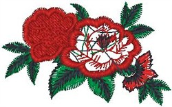 Fancy Flowers on Leaves embroidery design