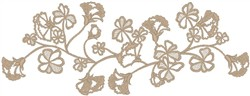 Monocolor Flowers embroidery design