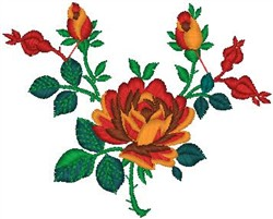 Decorative Roses embroidery design