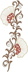 Flowers on Vine embroidery design