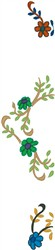 Flowers on Vines Scroll embroidery design
