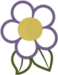 Purple Flower Outline embroidery design