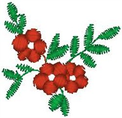 Flowers on Vines embroidery design