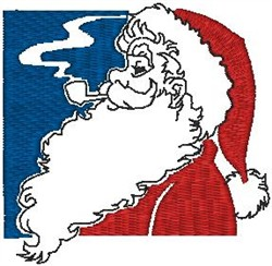 Santa with Pipe embroidery design