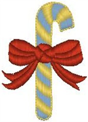 Candy Cane with Bow embroidery design