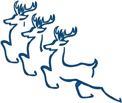 Flying Reindeer embroidery design
