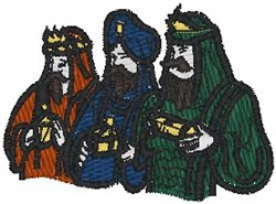 Three Wise Men embroidery design