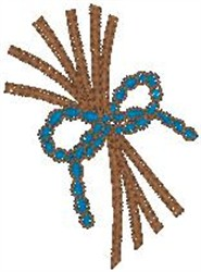 Sticks with Bow embroidery design