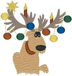 Decorated Moose embroidery design