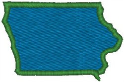 Iowa Shape embroidery design