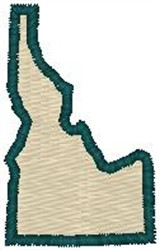 Idaho Shape embroidery design