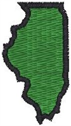 Illinois Shape embroidery design