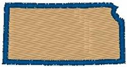 Kansas Shape embroidery design