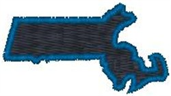 Massachusetts embroidery design