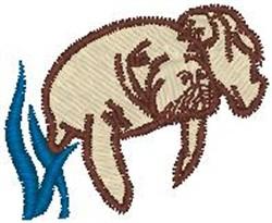 Manatee embroidery design