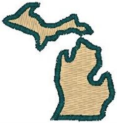 Michigan Shape embroidery design