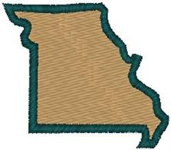 Missouri Shape embroidery design