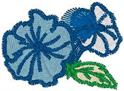 Sketched Flowers and Leaves embroidery design