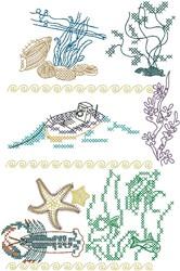 Marine Life embroidery design