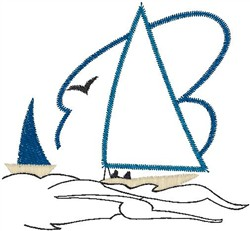 Yachting Outline embroidery design