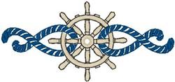 Wheel Rope Border embroidery design