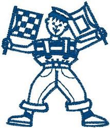Flag Boy embroidery design