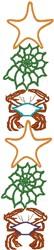 Starfish Border embroidery design