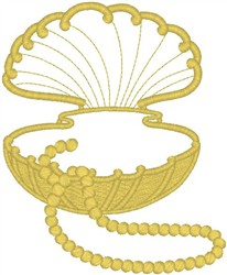 Pearl Oyster embroidery design