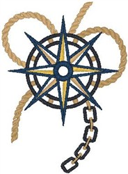 Nautical Crest embroidery design