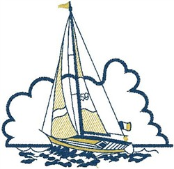 Sailing Boat embroidery design