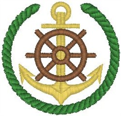 Boat Crest embroidery design