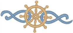 Ship Wheel embroidery design