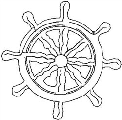 Ships Wheel072 embroidery design