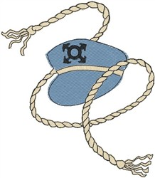 Rope & Cap embroidery design