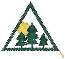 Pine Tree Patch embroidery design