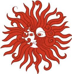 Fancy Sun embroidery design