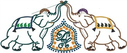 Circus Elephants embroidery design