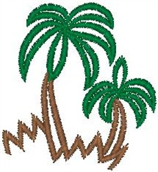 Palm Tree Sketch embroidery design