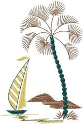 Tropic Sail embroidery design