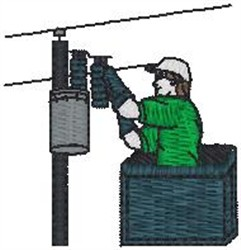 electrician2 embroidery design