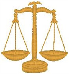 Scales of Justice embroidery design