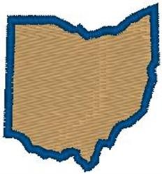 Ohio Shape embroidery design