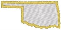 Oklahoma Shape embroidery design