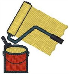 Paint Roller embroidery design