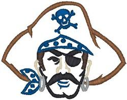 Pirate Face embroidery design